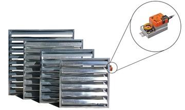 Ventilátorové žaluzie se servomotorem